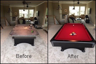Professional pool table refelting in Fresno content image 2